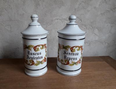 Pots pharmacie limoges brocante saint louis 1