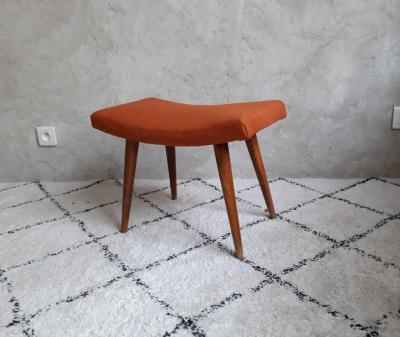 Tabouret orange brocante saint louis 2