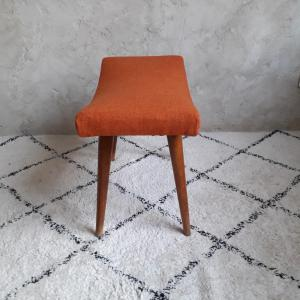 Tabouret orange brocante saint louis 4